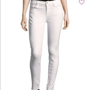 7 for all mankind white skinny jeans